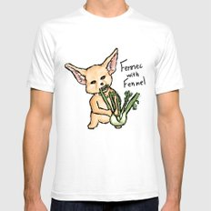 Fennec with Fennel SMALL White Mens Fitted Tee