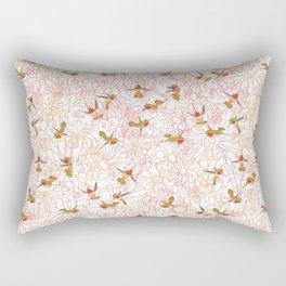 Flower Garden Dance Rectangular Pillow