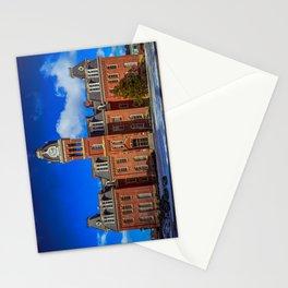 Woodburn Hall West Virginia School Building Vintage Historical Architecture Clock Tower Campus Landmark Stationery Cards