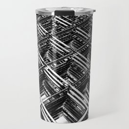 Rebar On Rebar - Industrial Abstract Travel Mug
