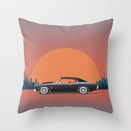 Classic Car Throw Pillow