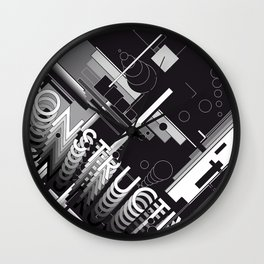 History of Art in Black and White. Constructivism Wall Clock