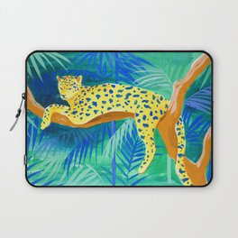 Leopard on Tree Laptop Sleeve