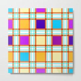Colorf squares Metal Print