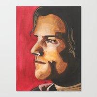 sam winchester Canvas Prints featuring Sam Winchester by Heather Davies-Devoe