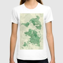 World Map Green T-shirt