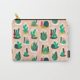 Terrariums - Cute little planters for succulents in repeat pattern by Andrea Lauren Carry-All Pouch