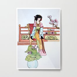 The Chinese cup in the Friday market Metal Print