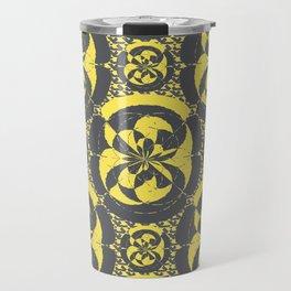 Dark grey and yellow Travel Mug
