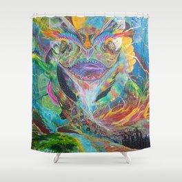 Sacred Dragon of Creation Shower Curtain