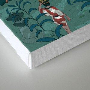 Ukiyo-e tale: The beginning of the trip Canvas Print