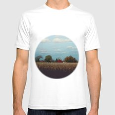 Life on the farm Mens Fitted Tee MEDIUM White