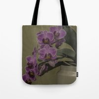 orchid Tote Bags featuring Orchid by Steve Purnell