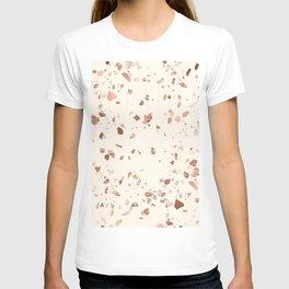 Rose Gold and Cream Terrazzo T-shirt