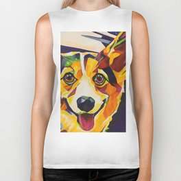 Pop Art Corgi Biker Tank
