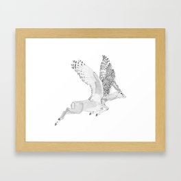 Combinations #7 - Antelope / Owl (FINAL) Framed Art Print