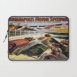 Vintage poster - Indianapolis Motor Speedway Laptop Sleeve