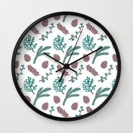 The Pine Pattern Wall Clock