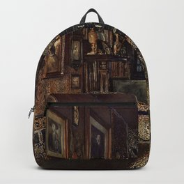 The Chamber Of Count Lanckoronski Vienna 1881 by Rudolf von Alt   Reproduction Backpack