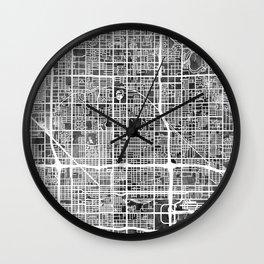 Phoenix Arizona City Map Wall Clock