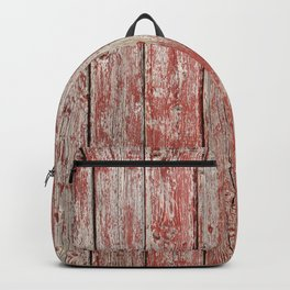 Rustic red wood Backpack