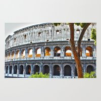 roman Area & Throw Rugs featuring Roman Coloseum by A/B Photography