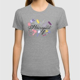 Hairapist Hairdresser Hair Stylist Barber Design T-shirt