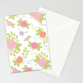 Garden of Fairies Pattern Stationery Cards