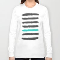 the strokes Long Sleeve T-shirts featuring Paint Strokes  by Zeke Tucker