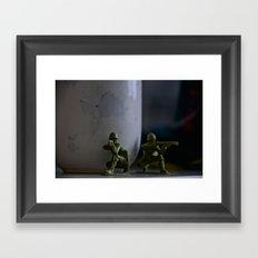 Two Greens Framed Art Print