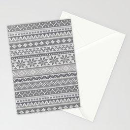 Fair Isle Gray Stationery Cards