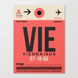 VIE Vienna Luggage Tag 1 Canvas Print