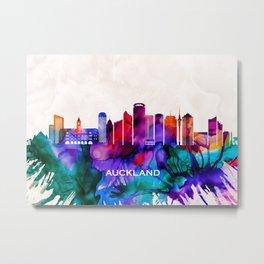 Auckland Skyline Metal Print