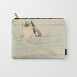 Wild duck, the head under water - Ohara Koson (1900-1930) Carry-All Pouch