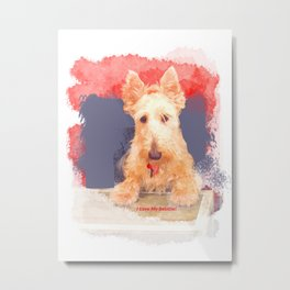 I Love My Scottie Metal Print