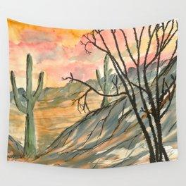 Southwestern Art Desert Painting Wall Tapestry