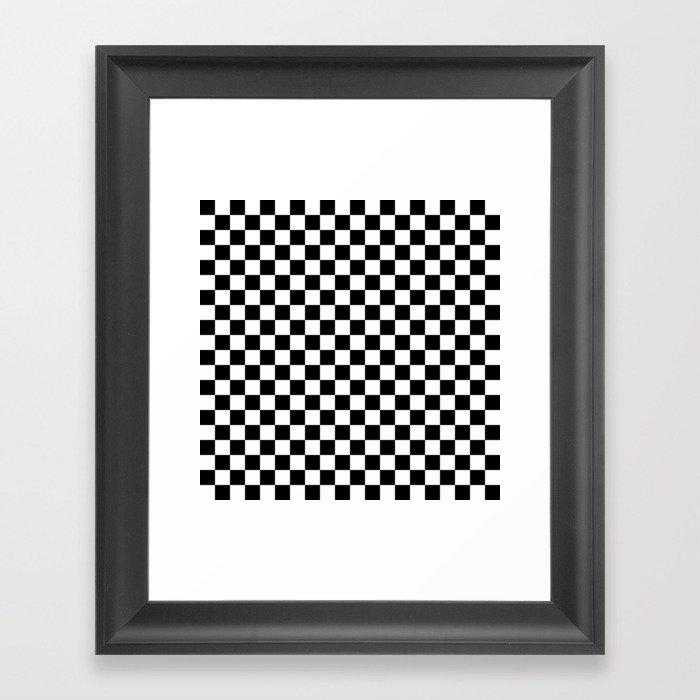 Black Checkerboard Pattern Gerahmter Kunstdruck