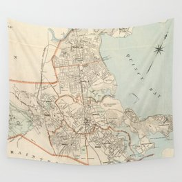 Vintage Map of Quincy MA (1907) Wall Tapestry