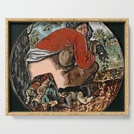 Brueghel's The Flatterers - Der Roj study Serving Tray