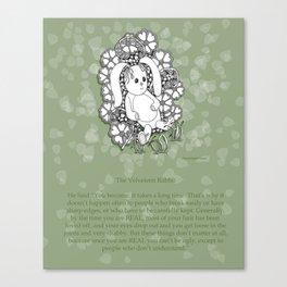 Velveteen Rabbit Wisdom Illustration for Children Canvas Print