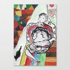 fille se masturbe Canvas Print