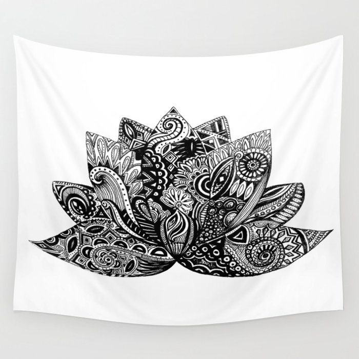 Lotus Flower Wall Tapestry By Ericawolfeoriginals Society6