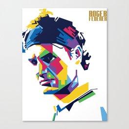 RF Roger Federer Tennis Canvas Print