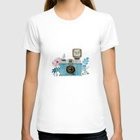 vintage camera T-shirts featuring Camera Vintage by Celosa Art