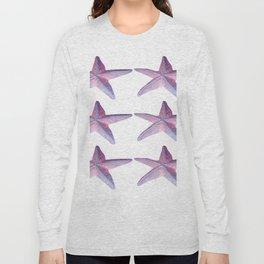 Pink Sea Stars in Six by Aloha Kea Photography Long Sleeve T-shirt