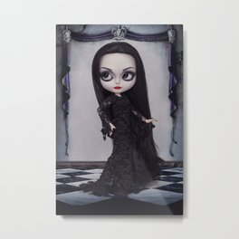 Morticia Addams Metal Print