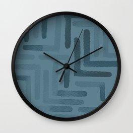 Blueprint and  Watercolor Texture 3 Wall Clock