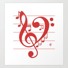 Love Music ~ Valentines Edition ~ Art Print