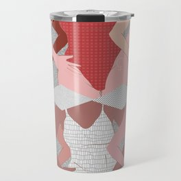 My Thighs Rub Together & I'm OK With That - Positive Body Image Digital Illustration Travel Mug