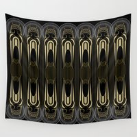 art deco Wall Tapestries featuring Art Deco by Mrs.Kirki